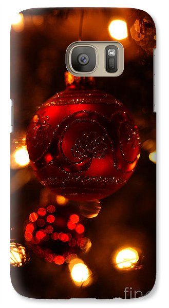 Galaxy Case featuring the photograph Shimmering Reflection by Linda Shafer