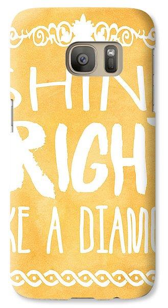 Shine Bright Orange Galaxy S7 Case