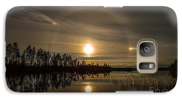 Galaxy Case featuring the photograph shine like a Halo by Rose-Maries Pictures