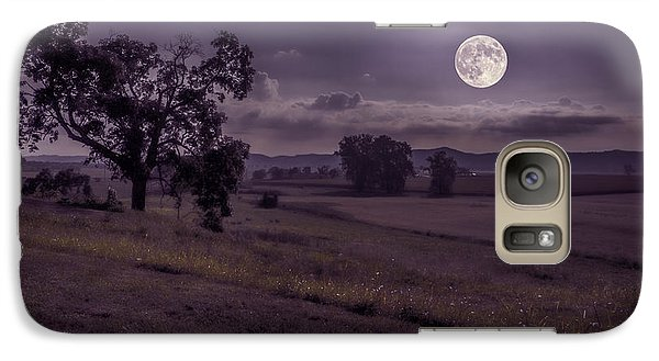 Galaxy Case featuring the photograph Shine On Harvest Moon by Jaki Miller