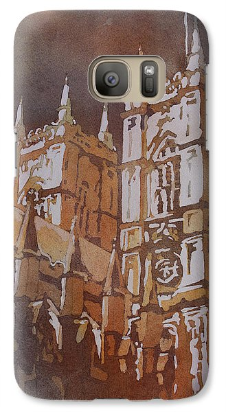 Westminster Abbey Galaxy S7 Case - Shining Out Of The Rain by Jenny Armitage