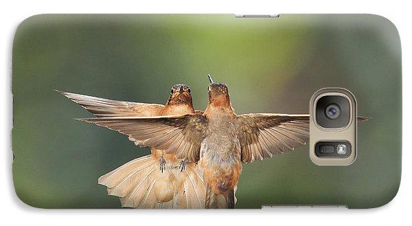 Galaxy Case featuring the photograph Shining Sunbeam Hummingbirds by Dan Suzio