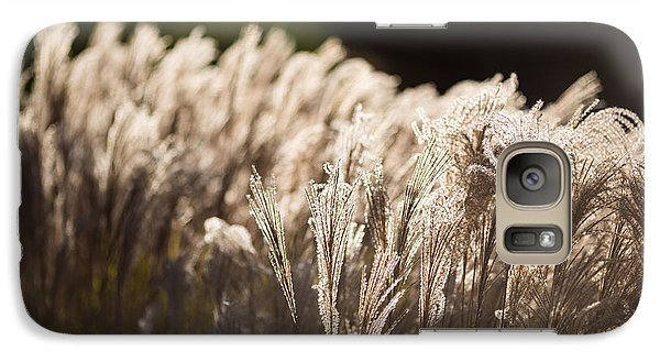 Galaxy Case featuring the photograph Shining Weeds by Mike Lee