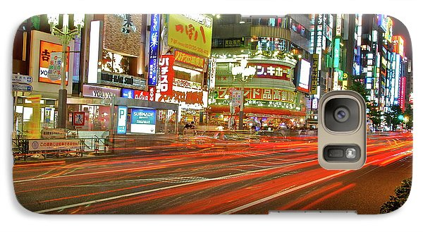 Galaxy Case featuring the photograph Shinjuku Neon Strikes by Jonah  Anderson