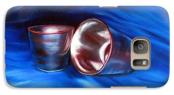 Galaxy Case featuring the painting Shiny Metal Cups Study by LaVonne Hand