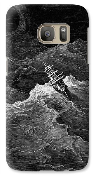 Ship In Stormy Sea Galaxy Case by Gustave Dore