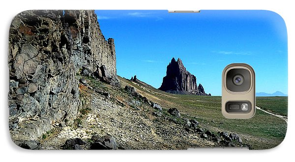 Galaxy Case featuring the photograph Shiprock by Alan Socolik