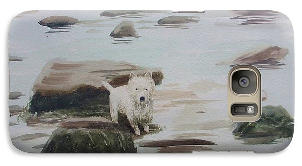 Galaxy Case featuring the painting Shirley's Dog by Martin Howard