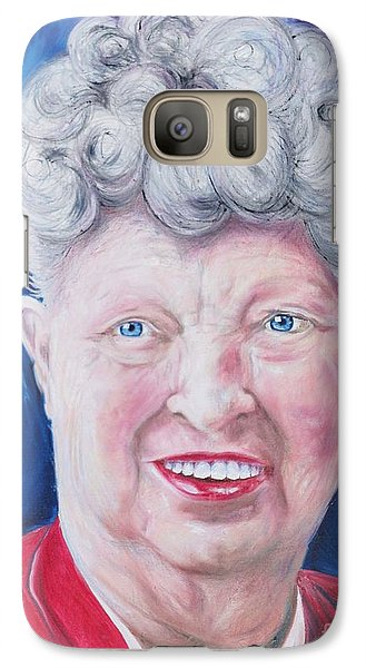 Galaxy Case featuring the painting Shirley's Portrait by PainterArtist FINs husband Maestro