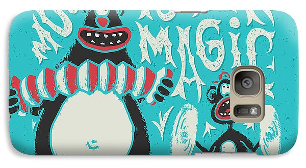 Magician Galaxy S7 Case - Shirt Print With Band Of Circus Monkey by Gleb Guralnyk