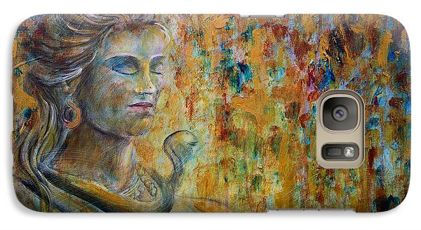 Galaxy Case featuring the painting Shiva 2 - Close by Nik Helbig