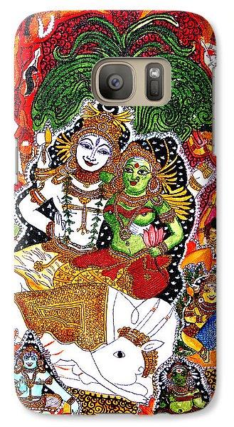 Galaxy Case featuring the painting Shiva Kudumba by Saranya Haridasan