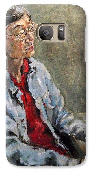 Galaxy Case featuring the painting Shiwoo Park by Becky Kim