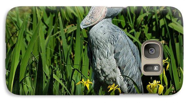 Galaxy Case featuring the photograph Shoebill Stork by Georgia Mizuleva