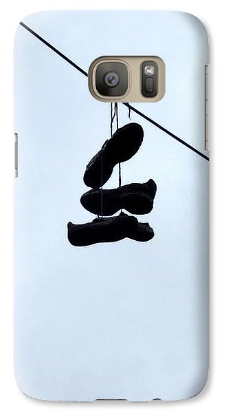 Galaxy S7 Case featuring the photograph Shoes On The Line by Marc Philippe Joly