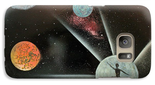 Galaxy Case featuring the painting Shooting For The Moon by Jack G  Brauer
