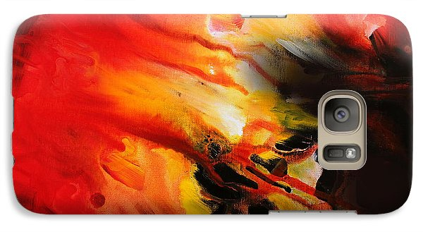 Galaxy Case featuring the painting Shooting Star by Kume Bryant