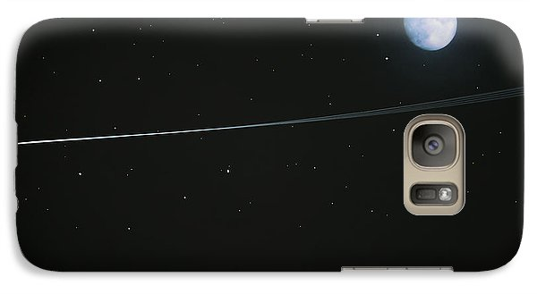 Galaxy Case featuring the digital art Shooting Star by Pete Trenholm