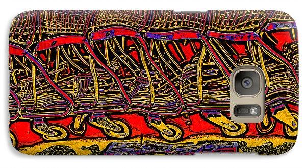 Galaxy Case featuring the digital art Shopping Carts by Richard Farrington