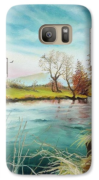 Galaxy Case featuring the painting Shore Of The River by Sorin Apostolescu