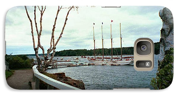 Galaxy Case featuring the photograph Shore Path In Bar Harbor Maine by Judith Morris