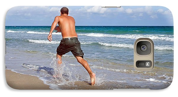 Galaxy Case featuring the photograph Shore Play by Keith Armstrong