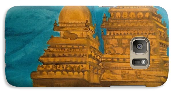 Galaxy Case featuring the painting Shore Temple by Brindha Naveen