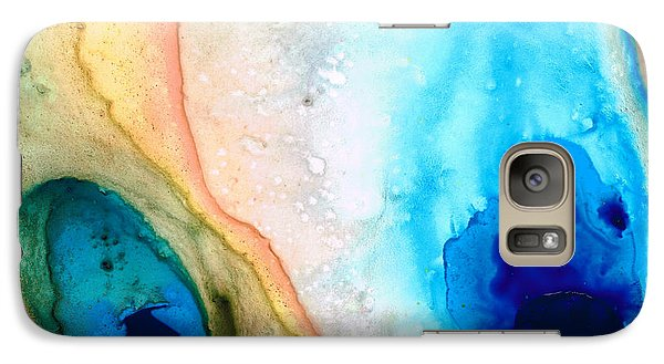 Shoreline - Abstract Art By Sharon Cummings Galaxy S7 Case by Sharon Cummings