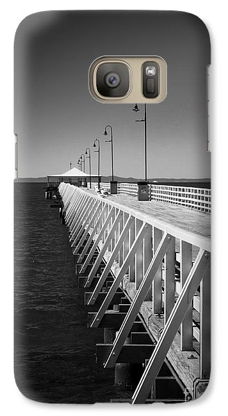 Galaxy Case featuring the photograph Shorncliffe Pier In Monochrome by Peta Thames