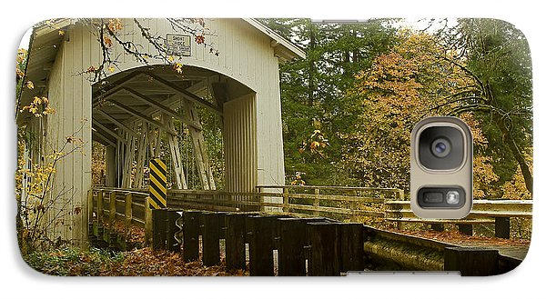 Galaxy Case featuring the photograph Short Covered Bridge by Nick  Boren
