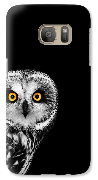 Short-eared Owl Galaxy S7 Case by Mark Rogan