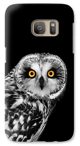 Short-eared Owl Galaxy S7 Case