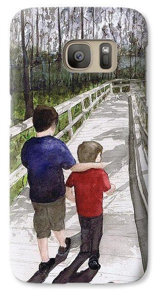 Galaxy Case featuring the painting Short Walk Long Pier by June Holwell