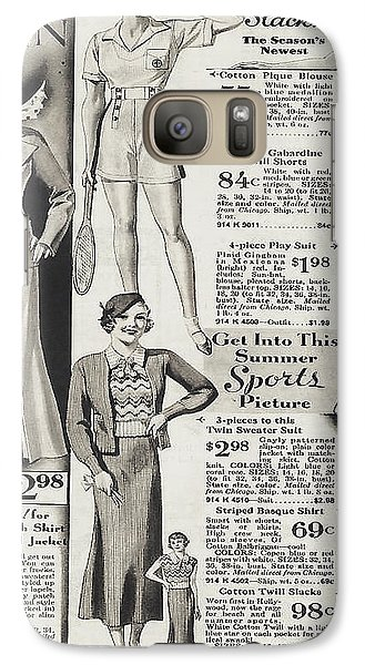 Galaxy Case featuring the photograph Shorts And Slacks 1934 77 Cents by Merton Allen