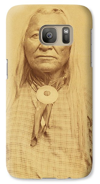 Galaxy Case featuring the photograph Shoshone Chief Washakie by Paul Ashby Antique Image