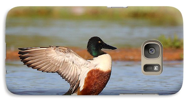 Galaxy Case featuring the photograph Shoveler Flap by Ruth Jolly
