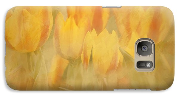 Galaxy Case featuring the digital art Showtime Tulips by Linda Blair
