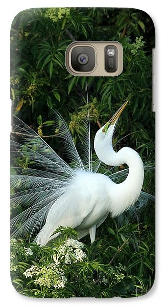 Showy Great White Egret Galaxy S7 Case by Sabrina L Ryan