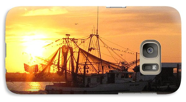Galaxy Case featuring the photograph Shrimp Boat At Sargent   by Jimmie Bartlett