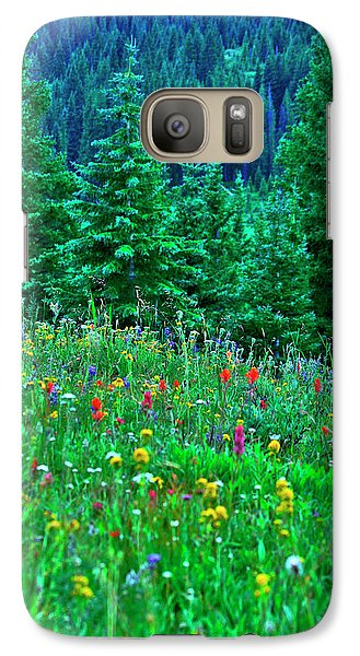Galaxy Case featuring the photograph Shrine Pass Wildflowers by Jeremy Rhoades