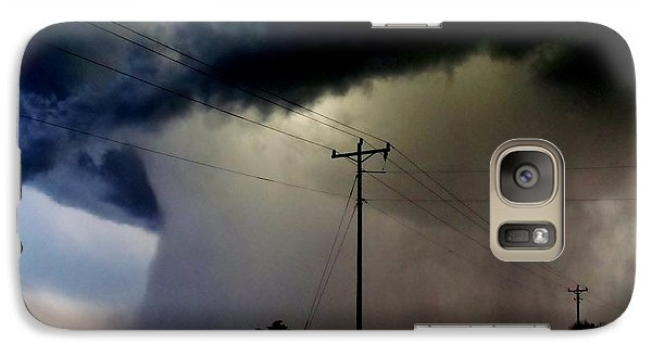 Galaxy Case featuring the photograph Shrouded Tornado by Ed Sweeney