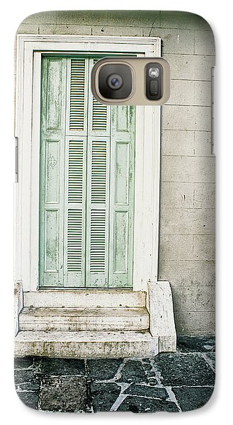 Galaxy Case featuring the photograph Shuttered Doors by Heather Green