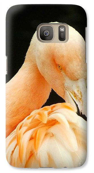 Galaxy Case featuring the photograph Shy by Clare Bevan