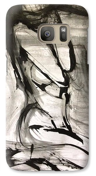 Galaxy Case featuring the drawing Shy by Helen Syron