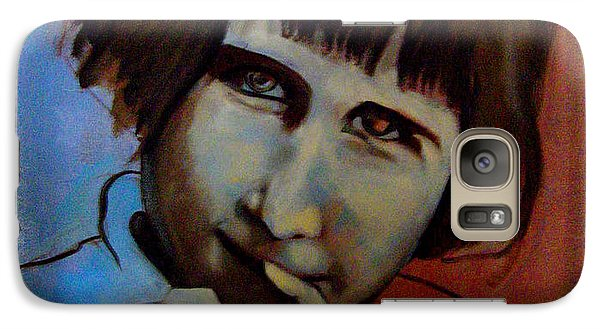 Galaxy Case featuring the painting Shy by Irena Mohr