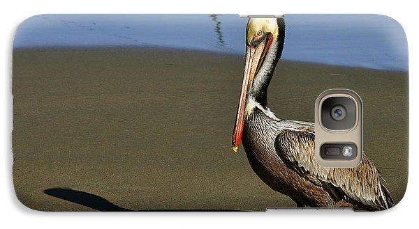 Galaxy Case featuring the digital art Shy Pelican by Gandz Photography