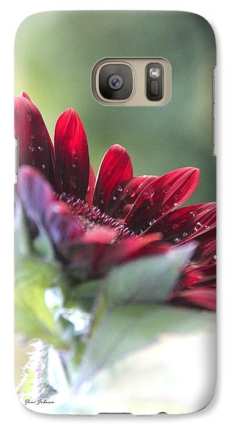 Galaxy Case featuring the photograph Shy Sunflower by Yumi Johnson