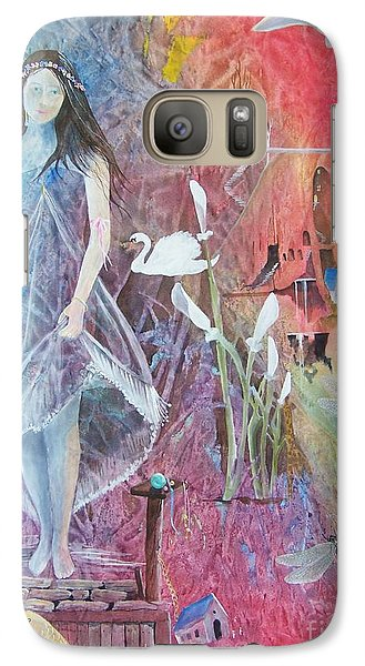 Galaxy Case featuring the painting Sian Nia by Jackie Mueller-Jones