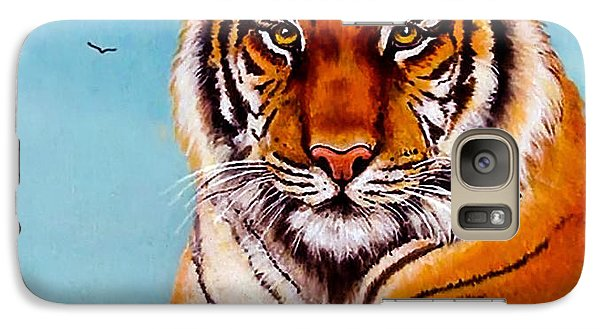 Galaxy Case featuring the painting Siberian King Tiger by Bob and Nadine Johnston