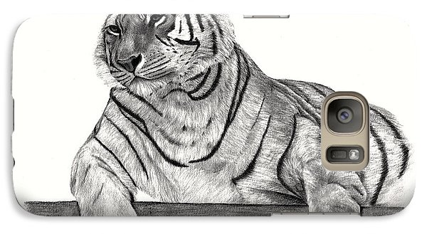 Galaxy Case featuring the drawing Siberian Tiger by Patricia Hiltz